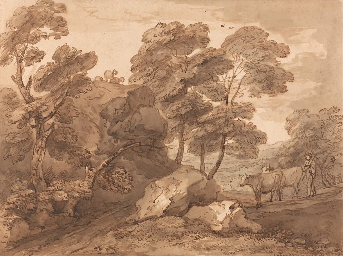Paisaje con vacas de Thomas Gainsborough