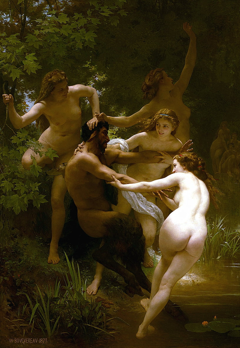 Ninfas y Sátiro de William Adolphe Bouguereau