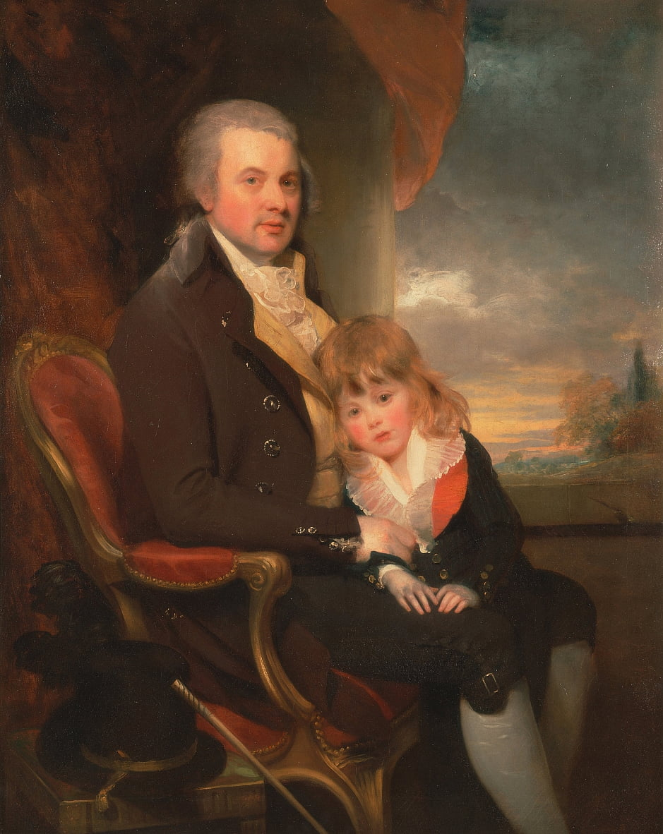 Edward George Lind y su hijo, Montague de William Beechey