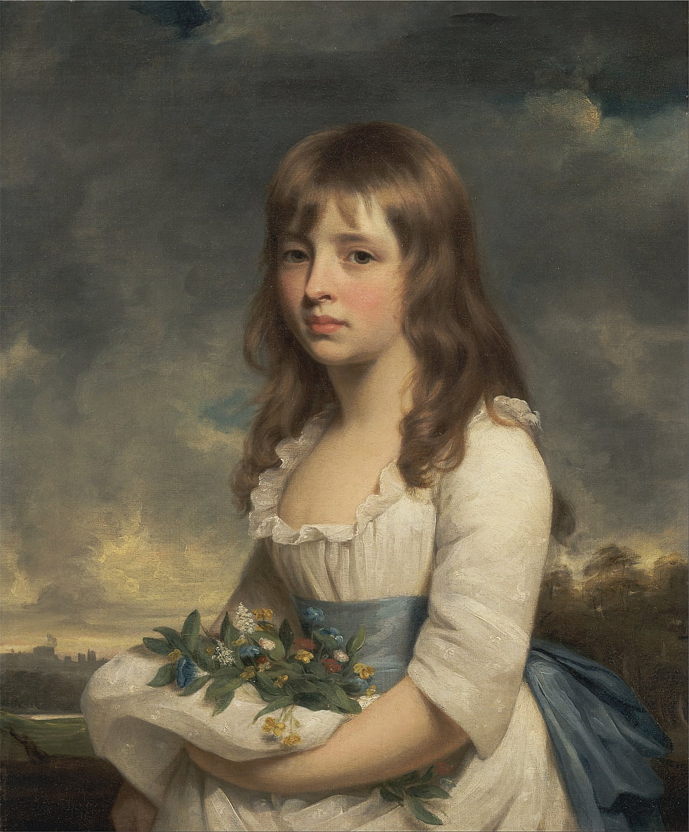 Retrato de una niña de William Beechey