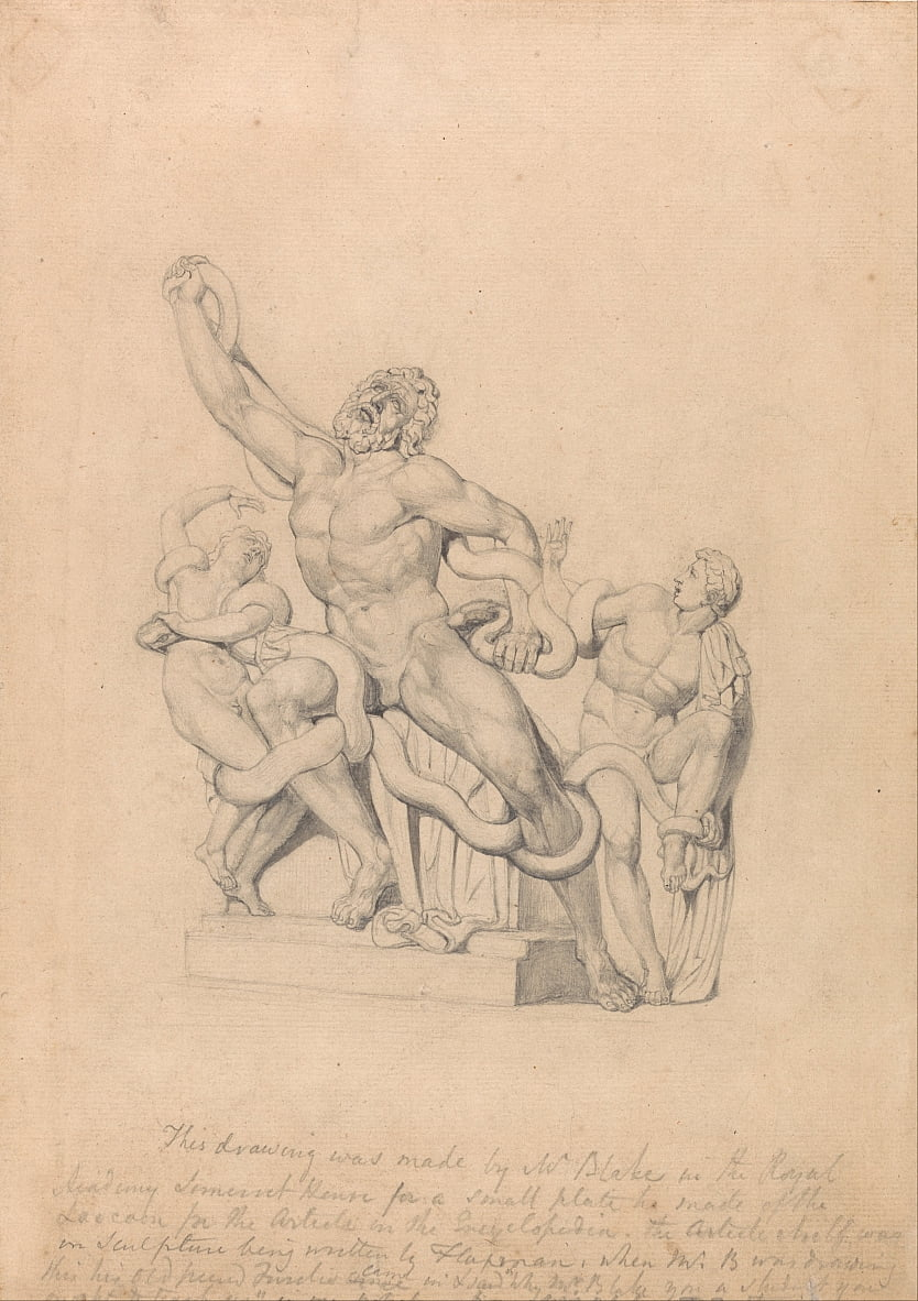 Copia del Laocoön, para Reess Cyclopædia de William Blake