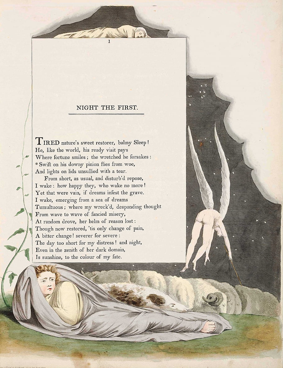 Edward Young Night Thoughts de William Blake