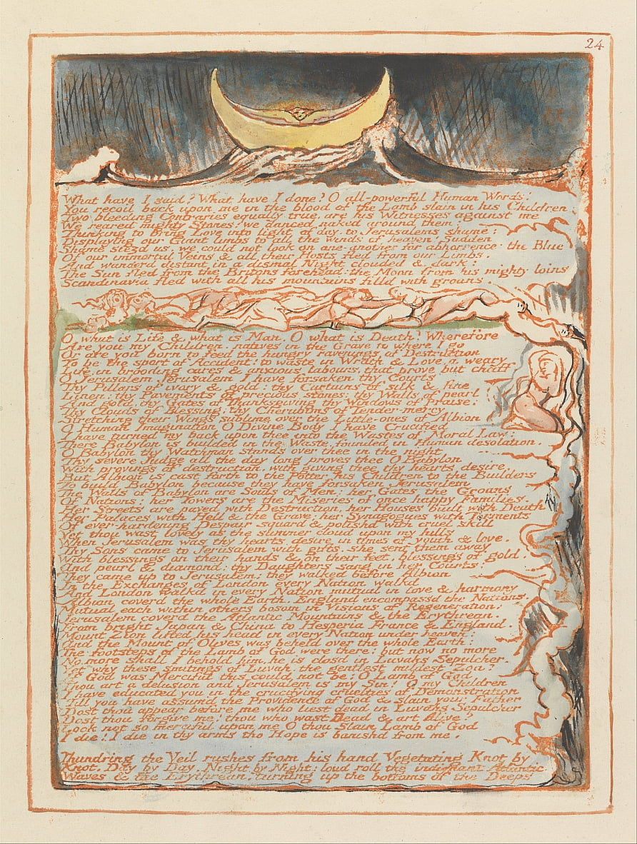 Jerusalén, lámina 24, de William Blake