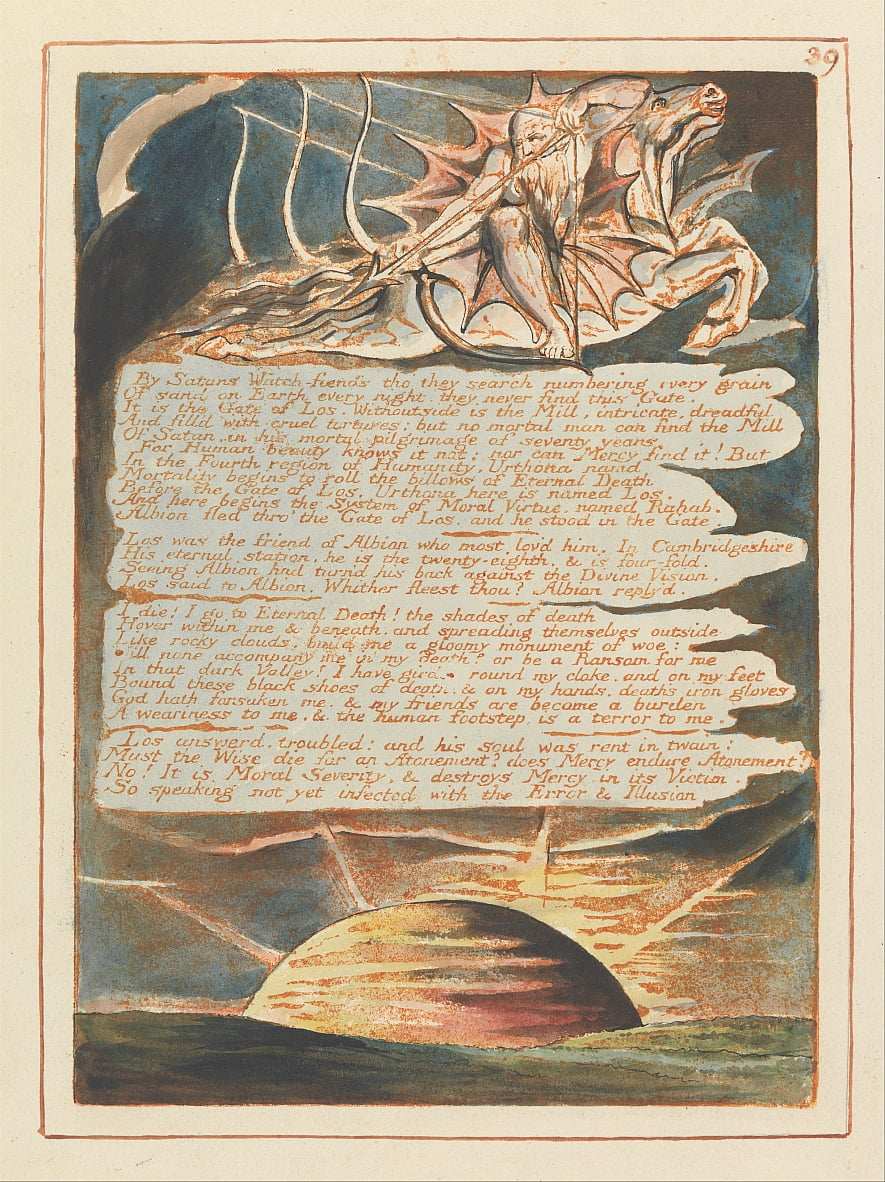 Jerusalén, lámina 39, de William Blake