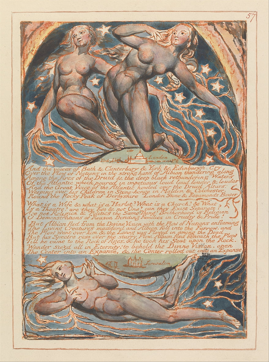Jerusalén, lámina 57, de William Blake