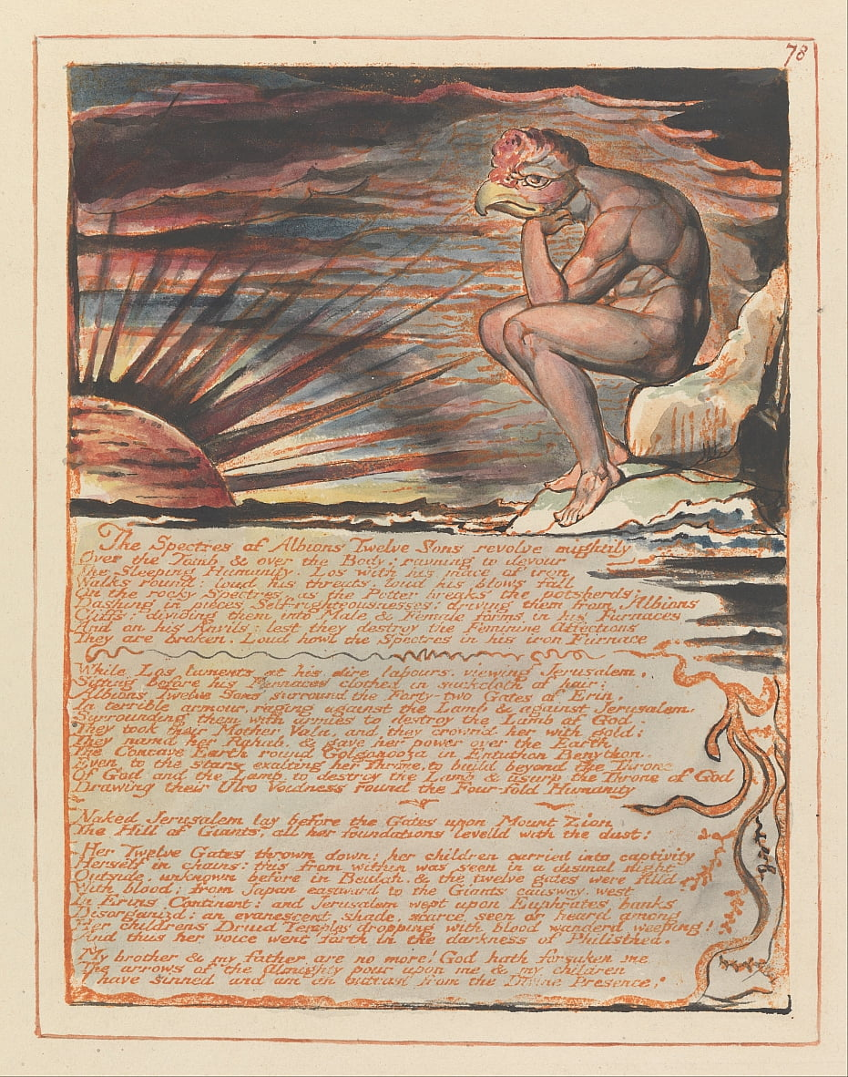 Jerusalén, lámina 78, Los espectros de ... de William Blake