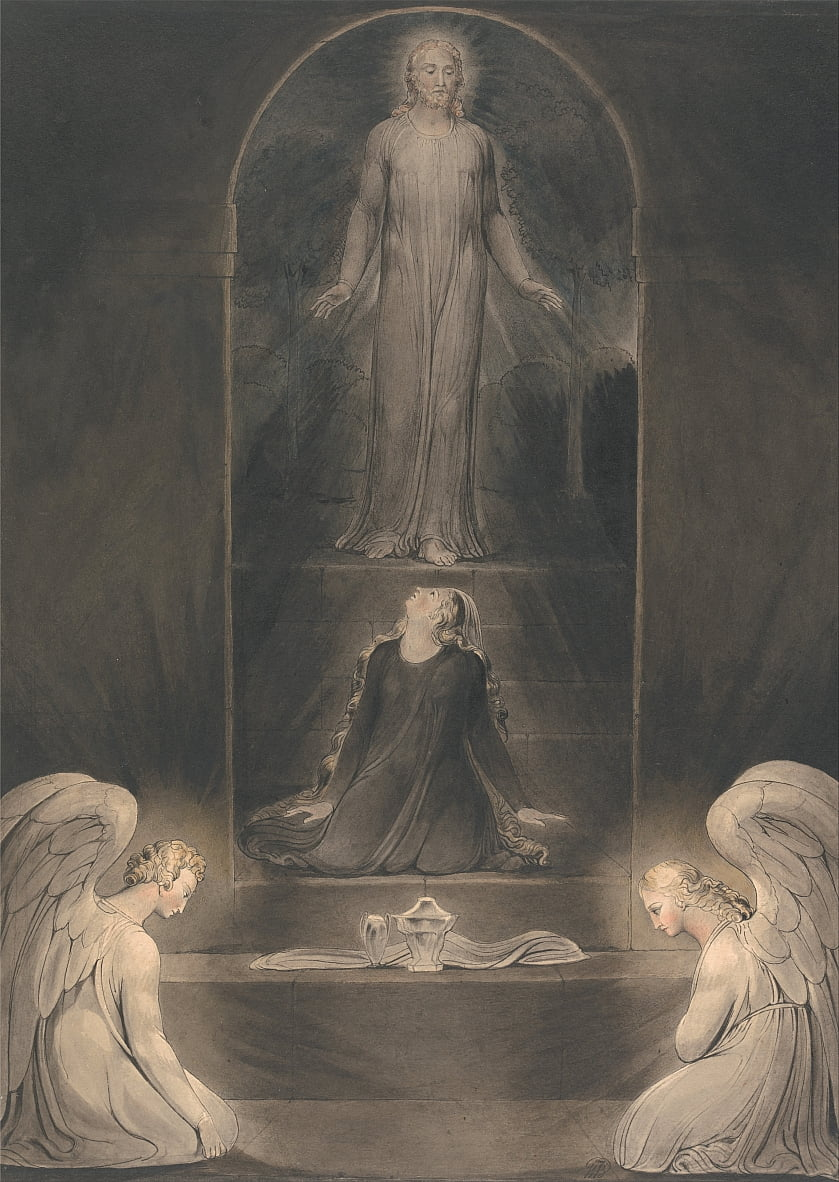 María Magdalena en el Sepulcro de William Blake