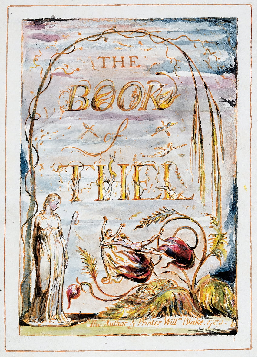 El libro de Thel (frontispicio) de William Blake