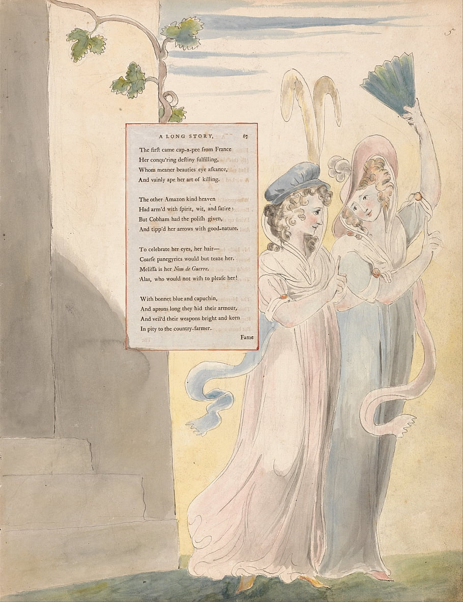 Los poemas de Thomas Gray, Diseño 27, Una historia larga. de William Blake