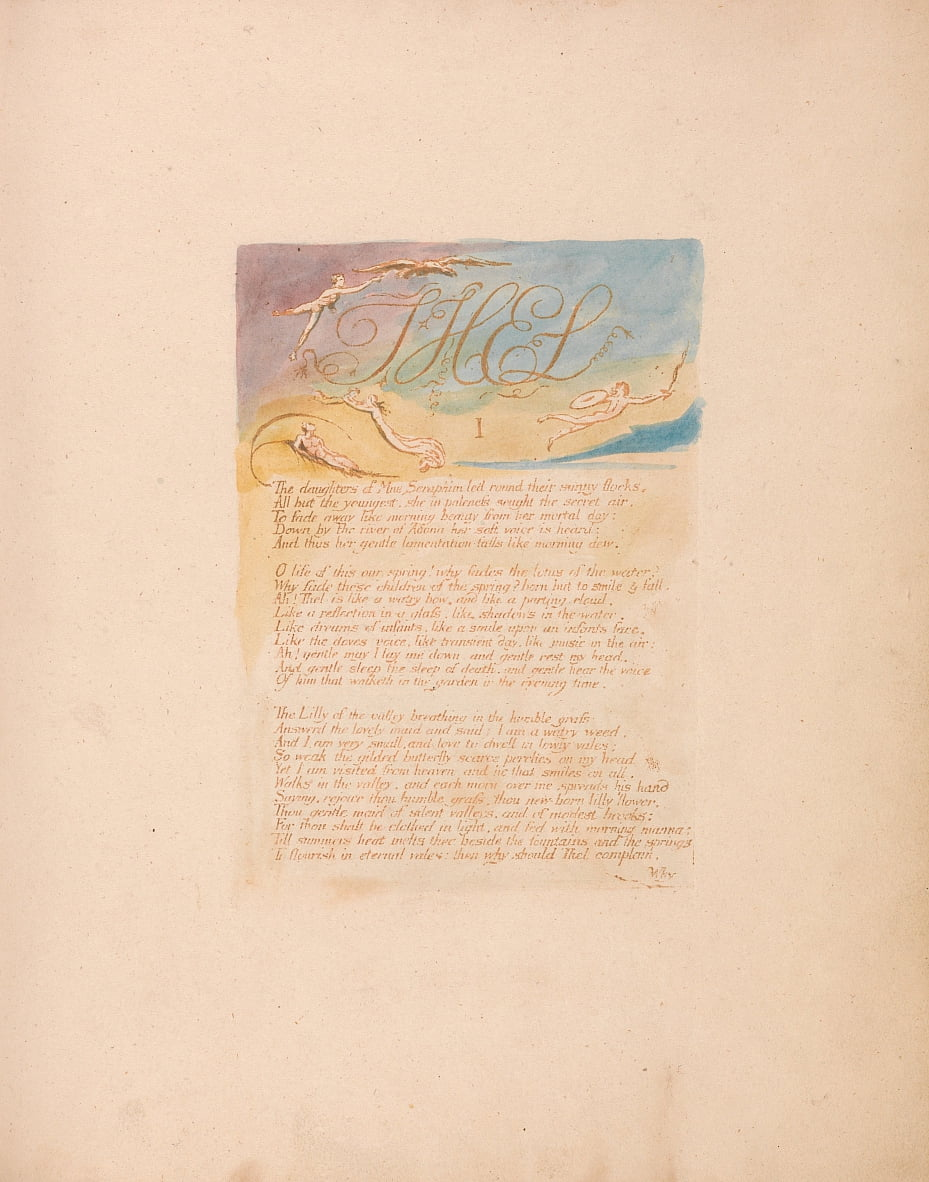 Las hijas de Mne Seraphim. . . . de William Blake