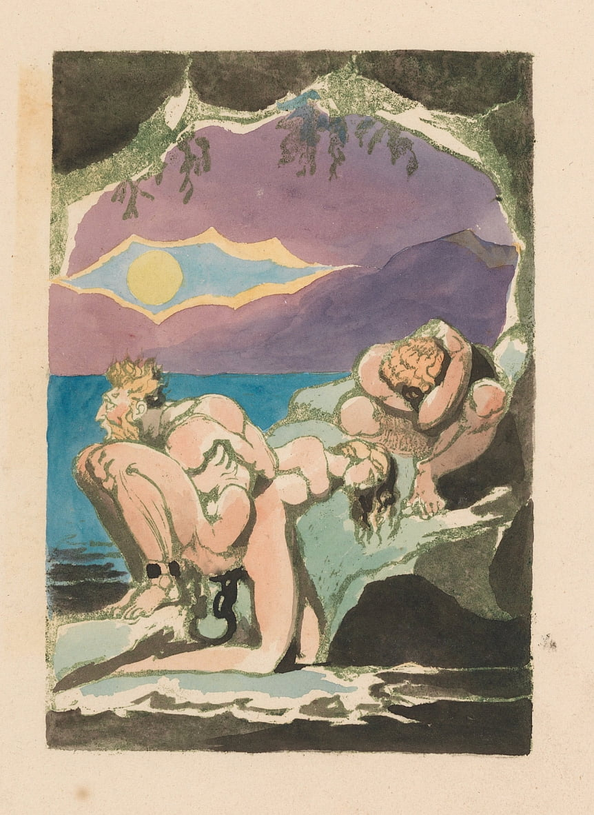 Visions of the Daughters of Albion, Placa 1, Frontispicio de William Blake