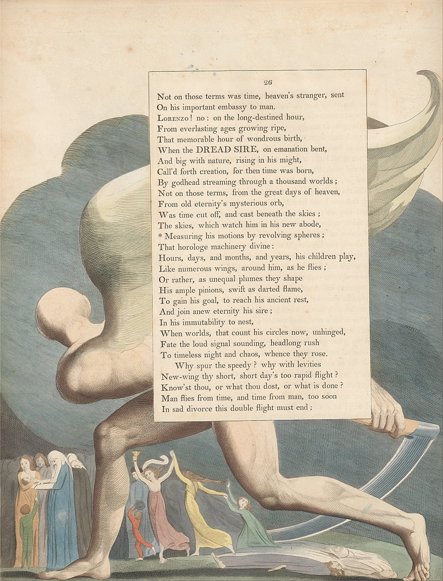 Youngs Night Thoughts, página 26, de William Blake