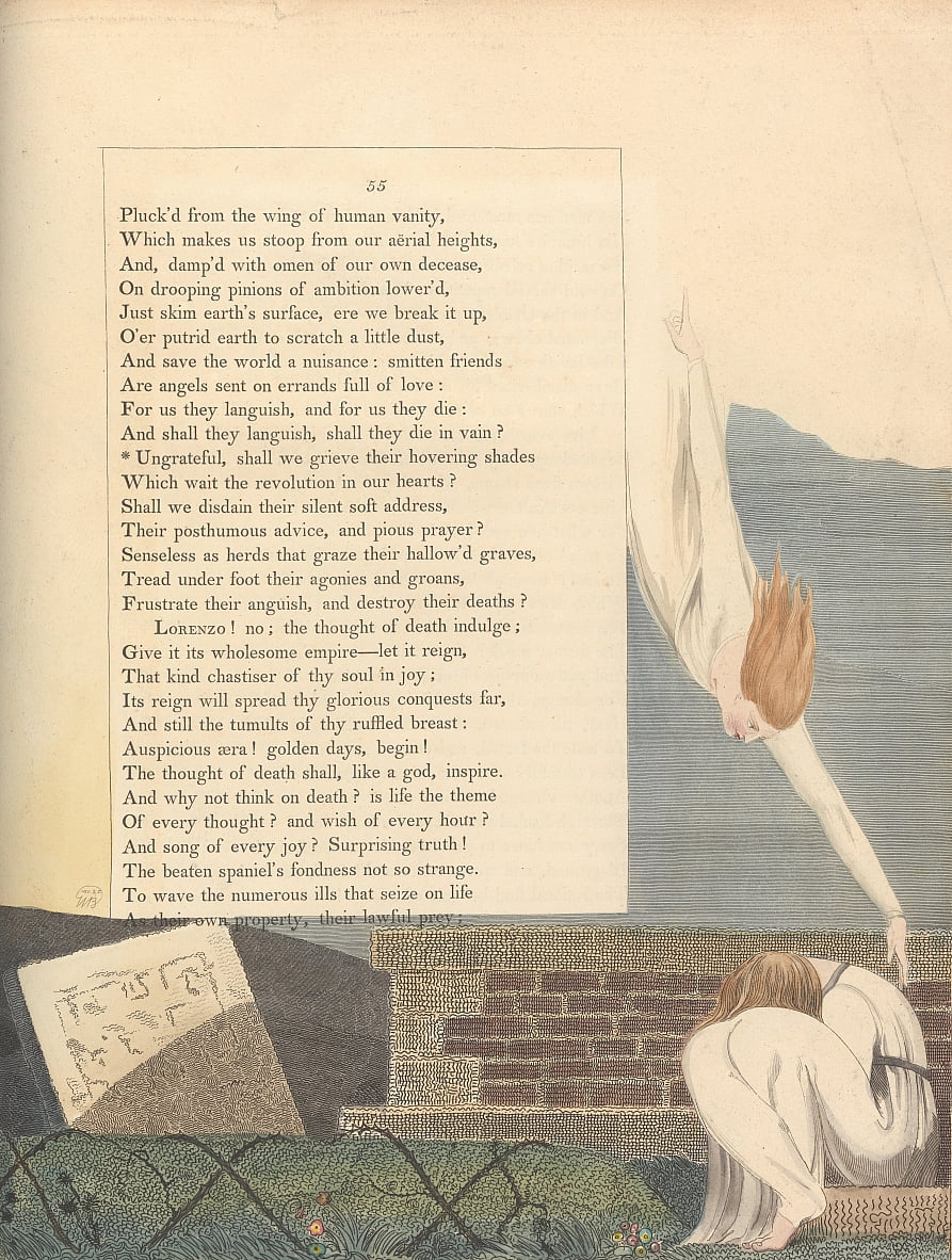 Youngs Night Thoughts, página 55, de William Blake