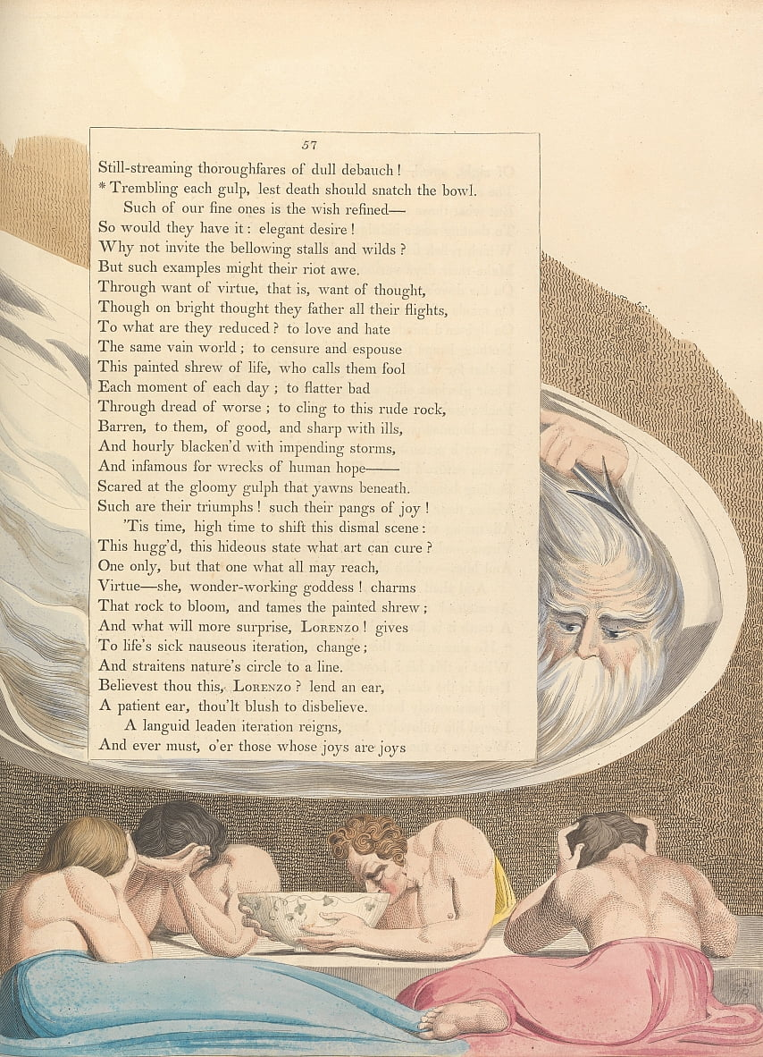 Youngs Night Thoughts, página 57, de William Blake