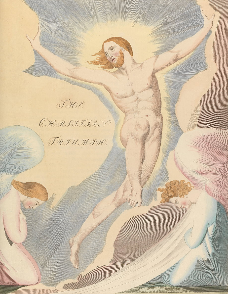 Youngs Night Thoughts, página 65, Night the Fourth, The Christian Triumph. de William Blake