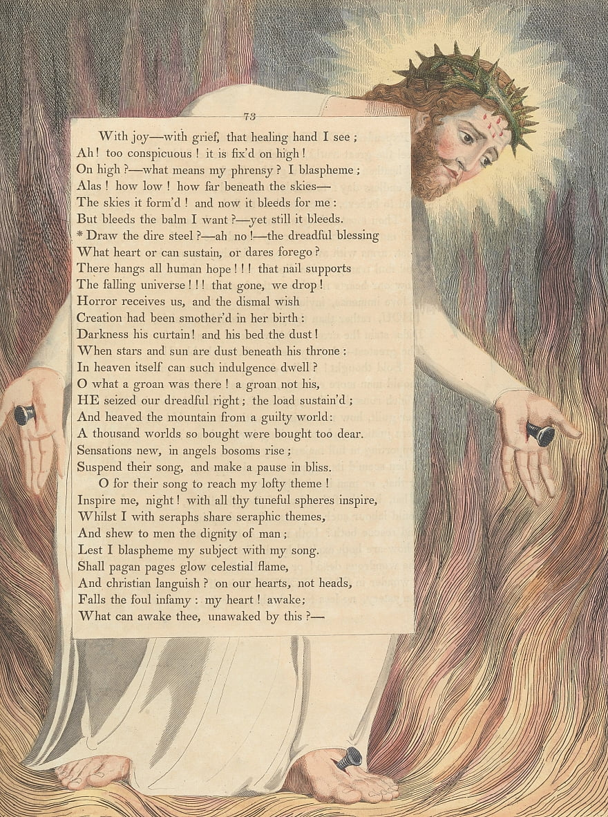Youngs Night Thoughts, Página 73 de William Blake