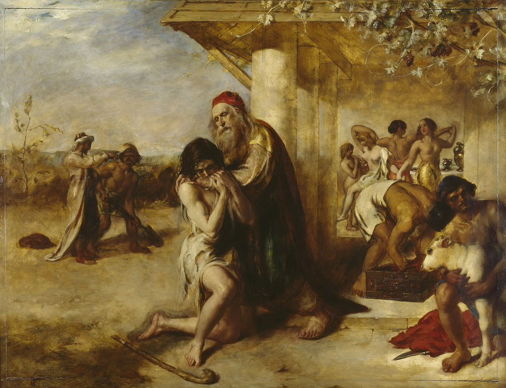 El regreso del pródigo arrepentido a su padre de William Etty