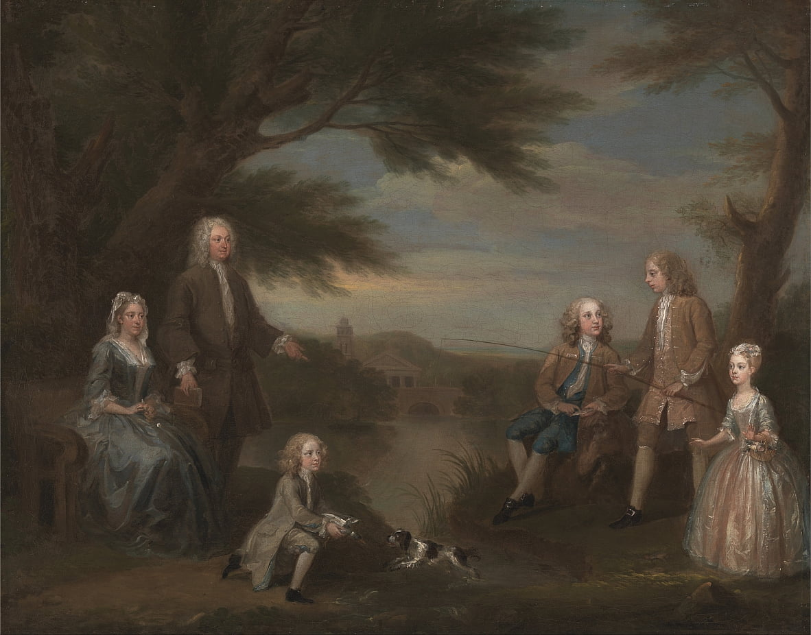 John y Elizabeth Jeffreys y sus hijos de William Hogarth