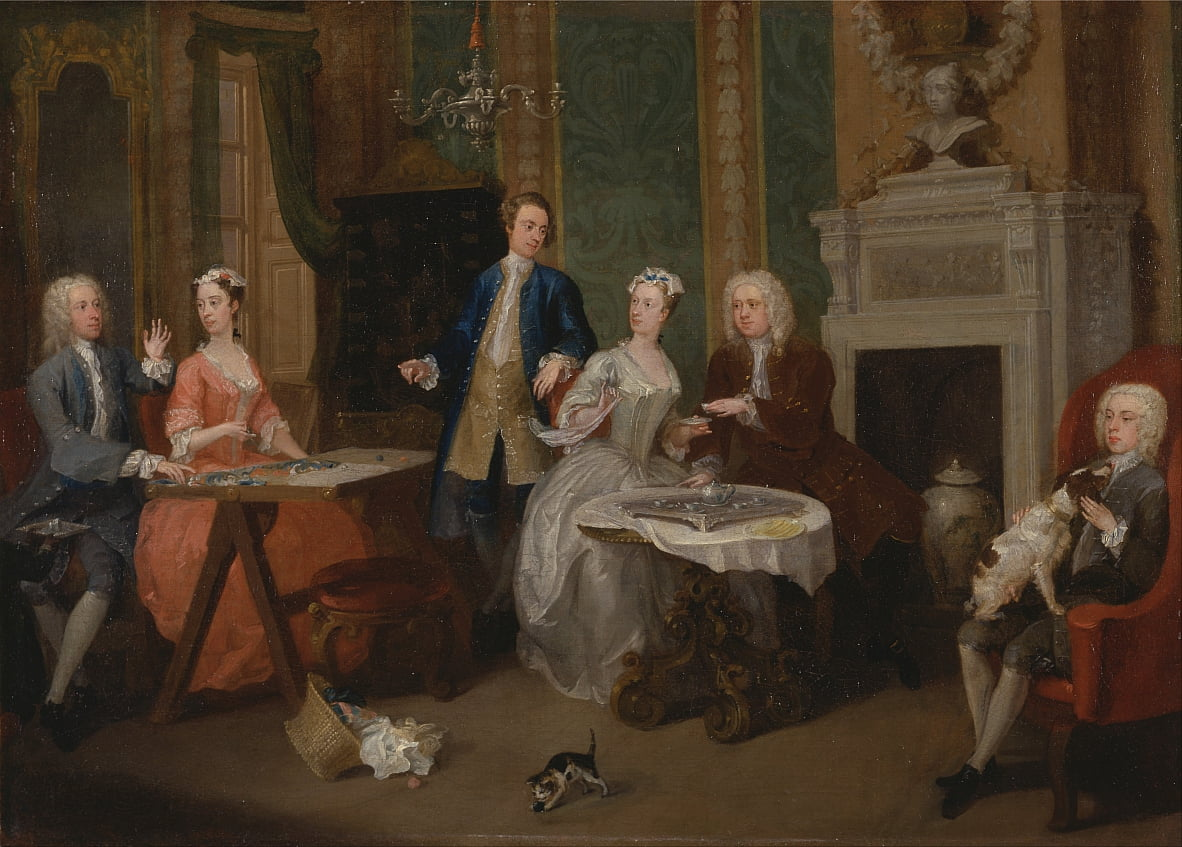 Retrato de una familia de William Hogarth