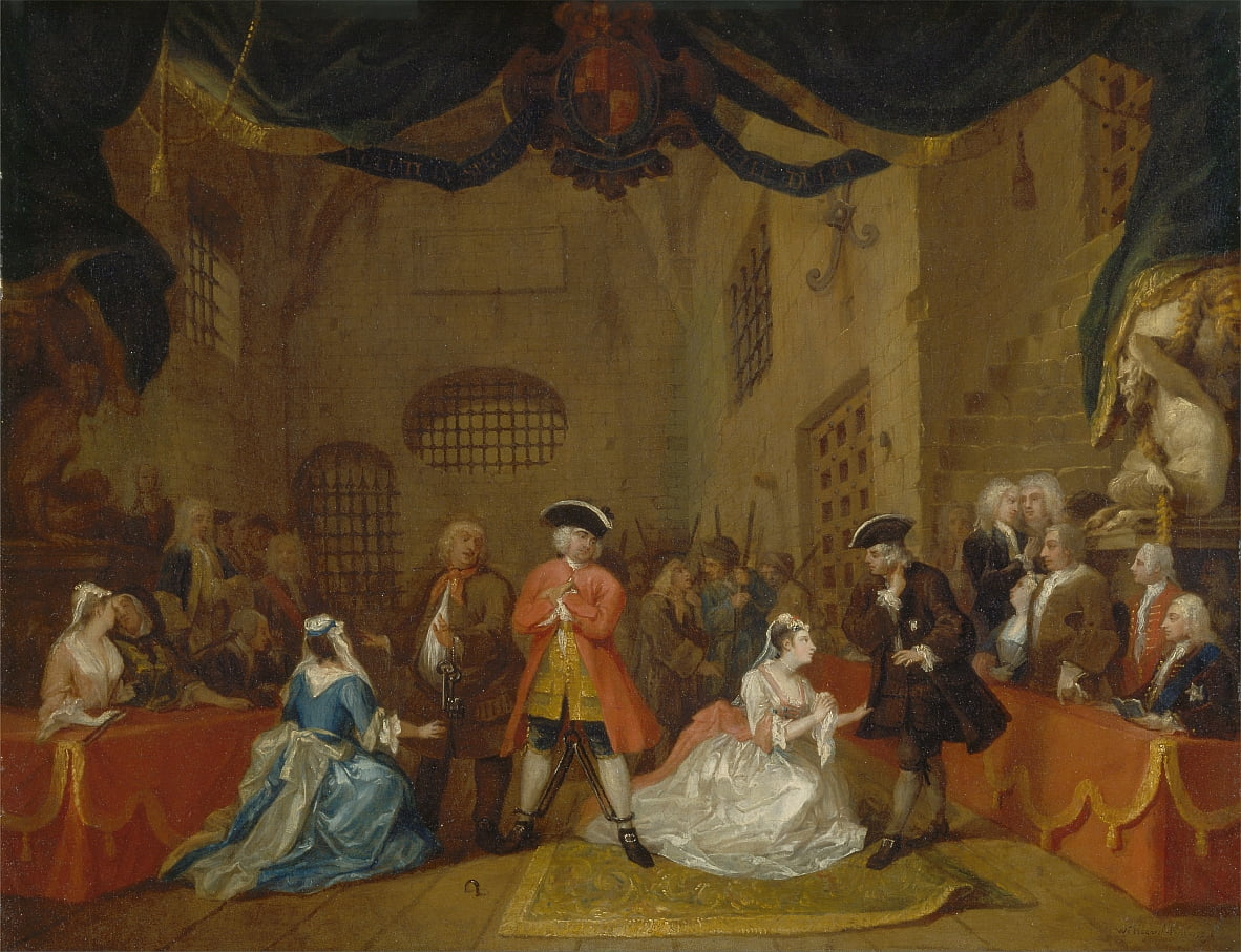 La ópera de los mendigos de William Hogarth