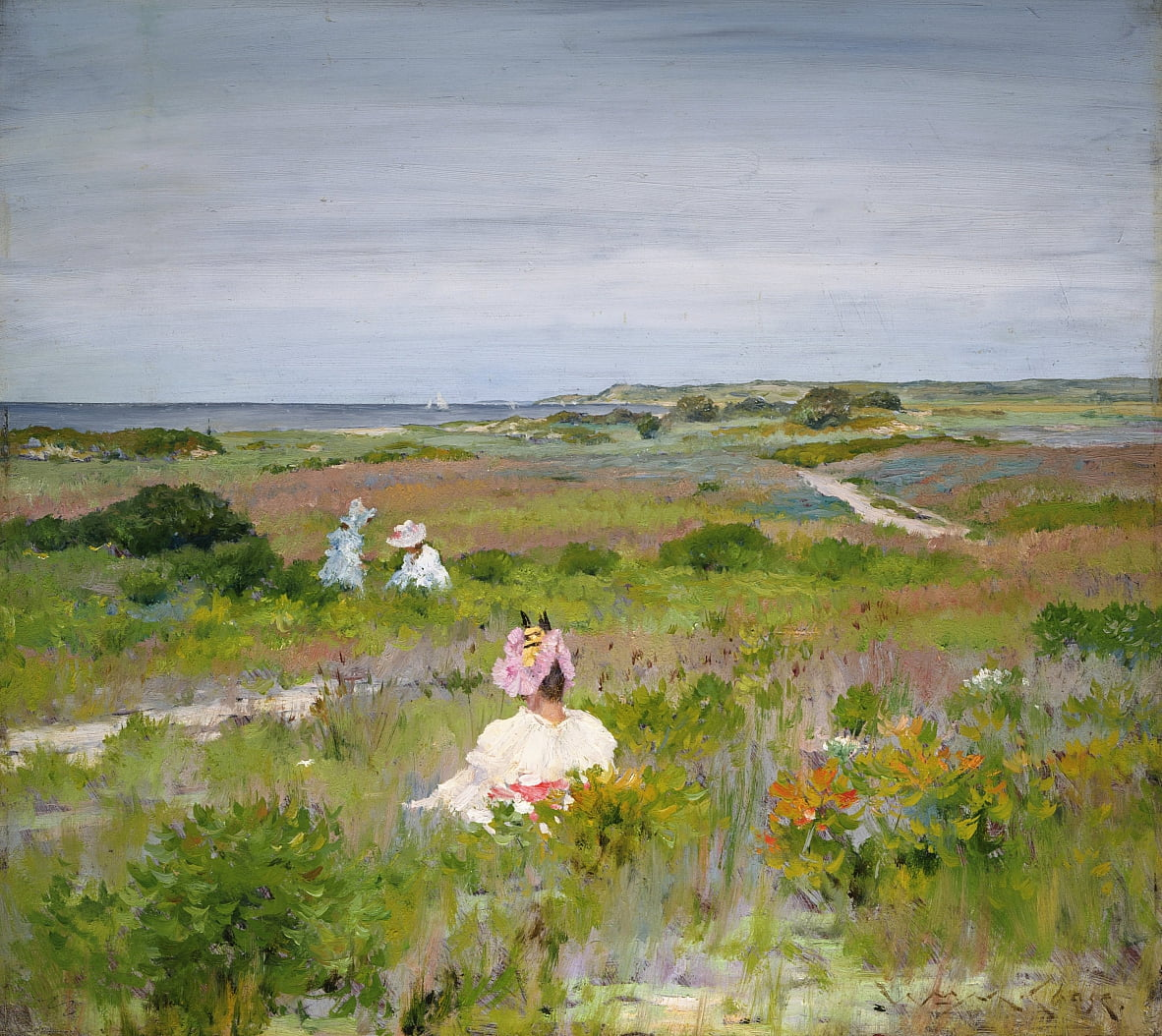 Paisaje: Shinnecock, Long Island de William Merritt Chase