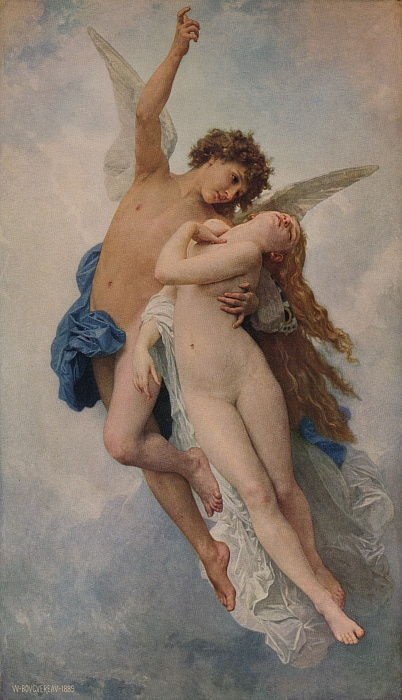 Cupido y Psique, 1889, 1938 de William Adolphe Bouguereau