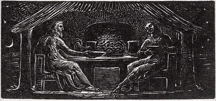 "Obsequio de Thenot y Colinet, ilustración de ""The Pastorals of Virgil"" del Dr. Thornton de William Blake"