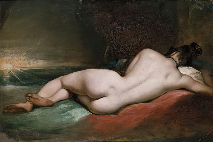 Desnudo modelo reclinado de William Etty