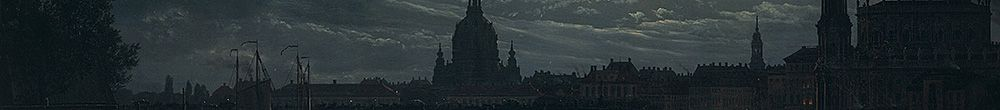 Vista de Dresden por Moonlight (Johan Christian Dahl)